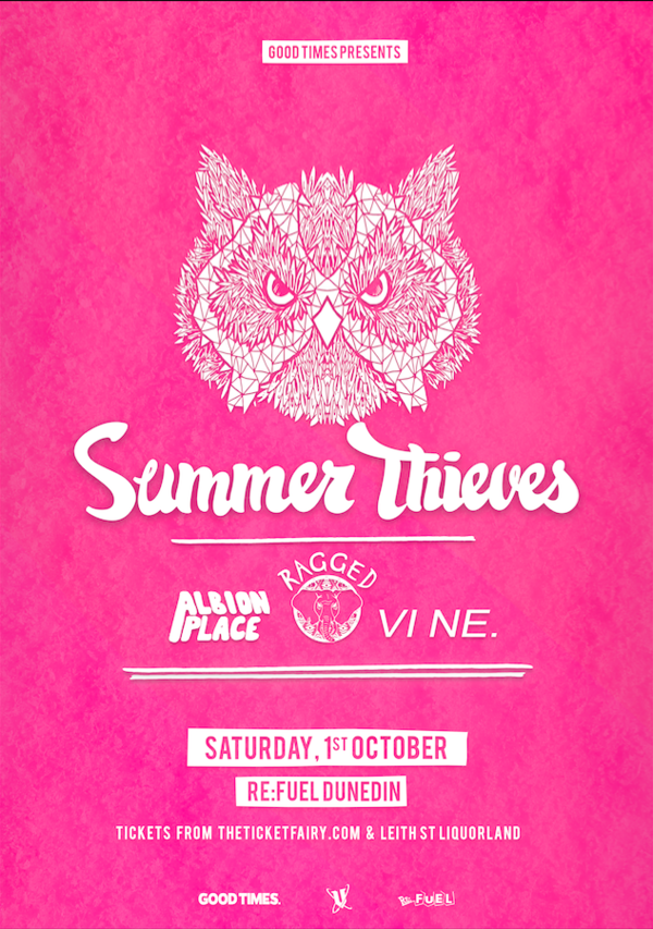 Summer Thieves, Ragged, Albion Place & VI NE - Dunedin