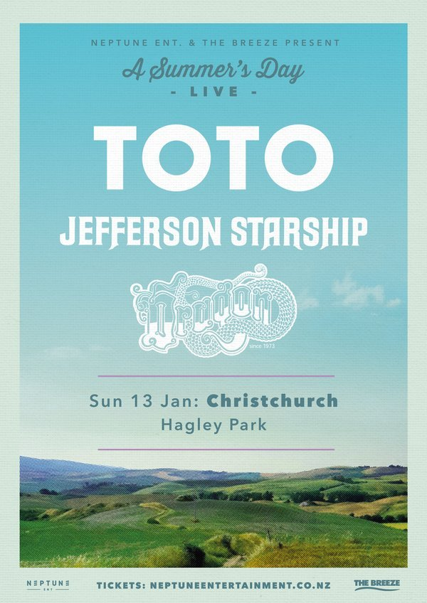 A Summer's Day Live ft. TOTO, J. Starship & Dragon (Christchurch)
