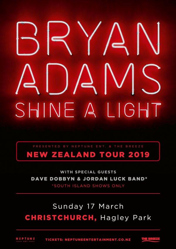 Bryan adams live in christchurch north hagley park - Bryan adams room service live in lisbon ...